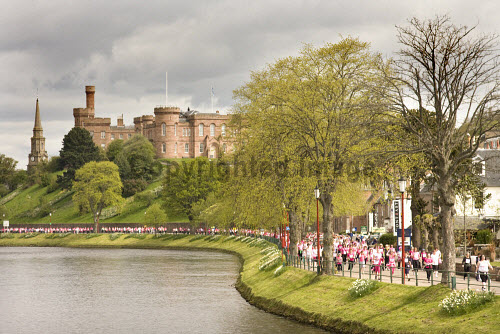 The Race for Life by the River Ness, Inverness, Highland.