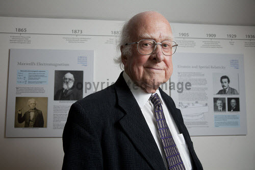 Professor Peter Higgs, who theorized the existence of a subatomic particle which was named the Higgs Boson. On 6 July 2012, Edinburgh University announced that a new centre, The Higgs Centre for Theoretical Physics to support future research in theoretical physics.  Picture Credit : Gary Doak / Scottish Viewpoint   Tel: +44 (0) 131 622 7174  E-Mail : info@scottishviewpoint.com  This photograph cannot be used without prior permission from Scottish Viewpoint. 2012,God,particle,British,Physicist,mass,scientist,science,LHC,Large,Hadron,Collider,Cern,education,study,tertiary