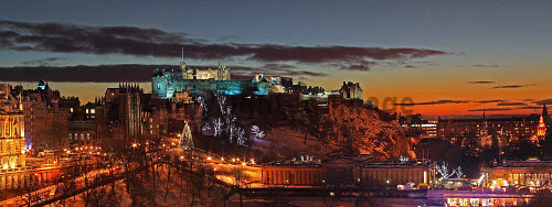 The city of Edinburgh during the Christmas celebrations.