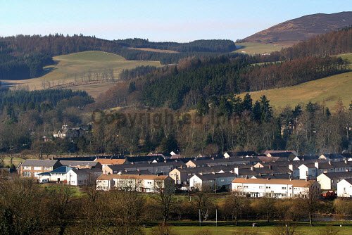 The Bannerfield housing scheme in Selkirk in the Scottish Borders. Council house residents in the Scottish Borders have voted for a stock transfer from the local authority's control to the newly-formed Scottish Borders Housing Association, which will be responsible for the maintenence and administration for the properties in this largely rural area.18/02/03