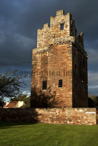 The ruined remains of Preston Tower under the guardianship of East Lothian Council at Prestonpans, East Lothian. 2012,Ruin,Ruins,Heritage,History,Historical,Visitor,Tourist,Attraction,Sunny,autumn,building