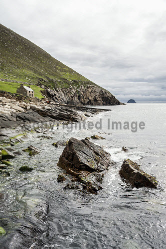 The Store House, Hirta,  St Kilda archipelago, Outer Hebrides, Scotland history,heritage,historic,Scotland,Scottish,UK,U.K,Great Britain,nobody,outdoors,daytime,summer,world heritage site,island,islands,isle,isles,hirta,St Kilda,restored,house,village,national nature reserve