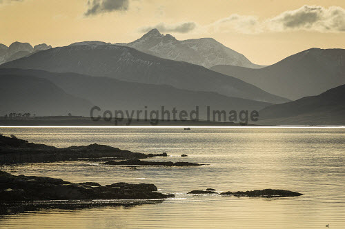 The Cuillin Mountains on Skye, Inner Hebrides, Scotland uk,u.k,Great Britain,GB,G.B,Scotland,Scottish,nobody,outdoors,daytime,mountain,mountains,hill,hills,island,islands,isle,isles,spring,skye,inner hebrides,cuillins,cuillin,black,munro,munros,corbett,corbetts,snow