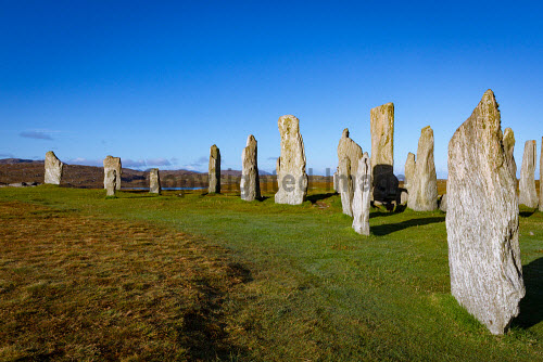 Calanais Standing Stones, Isle of Lewis, Outer Hebrides, Scotland uk,u.k,Great Britain,GB,G.B,Scotland,Scottish,nobody,daytime,outdoors,Outer Hebrides,western isles,lewis,island,islands,isle,isles,calanais,callanish,history,heritage,historic,standing stones,autumn