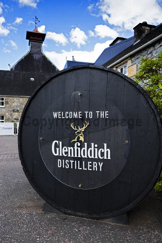 Glenfiddich whisky distillery in Dufftown Banffshire Scotland Glenfiddich,whisky,distillery,Scotland,Dufftown,Banffshire,distilleries,Scottish,Europe,European,tourist attraction