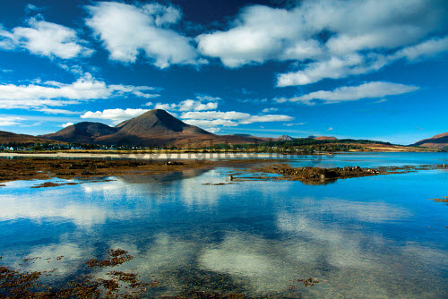 Beinn na Caillich and Broadford Bay from Waterloo, Broadford