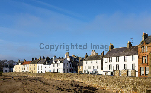 View of village of Anstruther on East Neuk of Fife in Scotland