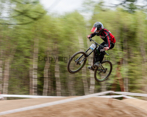 Highlands of Scotland15th May 2016 UK The British downhill series race held in Fort William Nevis Range uk,u.k,Great Britain,GB,G.B,Scotland,Scottish,1 person,daytime,outdoors,activity,activities,cycling,cyclist,cyclists,bike,bikes,biking,biker,bikers,bicycle,bicycles,mountain