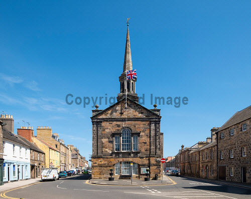 The Town House in Haddington , East Lothian, Scotland, UK Haddington,Haddington Town House,council building,street,East Lothian,Scotland,Scottish,town,UK,United Kingdom,Britain,daytime,building exterior,nobody