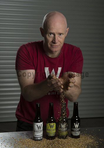 Windswept Brewery Lossiemouth  Nigel Tiddy � Managing Director   PIC  TREVOR MARTIN /HIE 2018,brewing,brewery,beer,product,bottles,bottle,windswept,production,grain,hands
