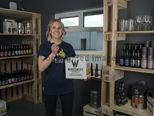 Windswept Brewery Lossiemouth  Ailsa Morris � Taproom Supervisor in the new shop  PIC  TREVOR MARTIN /HIE 2018,brewing,brewery,beer,product,bottles,bottle,windswept,production,shop