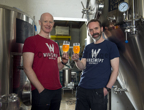 Windswept Brewery Lossiemouth Nigel Tiddy � Managing Director Al Read � Operations Director    PIC  TREVOR MARTIN /HIE 2018,brewing,brewery,beer,product,bottles,bottle,windswept,production,glass,glasses