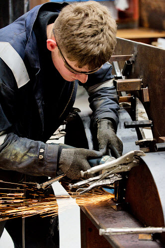 Gow's,  Lybster Ltd, Caithness  Morgan Robertson welding  Picture Credit Angus Mackay /HIE 2018,engineering,design,fabrication,installation,Gow's,apprentice,modern,apprentices,sparks,welder