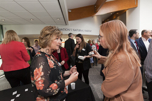 Horizon Scotland, The Enterprise Park Forres, Moray  Breakfast event at Horizon Scotland  Picture Credit Gary Doak/HIE 2018,foyer,reception,attendees,breakfast,people,business,businesses,meeting,meetings