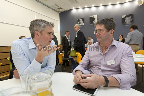 Horizon Scotland, The Enterprise Park Forres, Moray  Breakfast event at Horizon Scotland  Attendees having a conversation at the event  Picture Credit Gary Doak/HIE 2018,attendees,breakfast,people,business,businesses,meeting,meetings,lecture theatre,events,event,audience