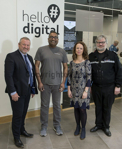 HIE Hello Digital Cyber Crime Awareness   Chief Insp. Michael Sutherland  Police Scotland Chami Coomasary Google Digital Garage Theresa Swayne HIE  Det Sgt. Steve Gillies Police Scotland   PIC  Trevor Martin/HIE 2018,digital,crime,cyber,awareness,#HelloDigital