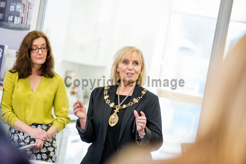 Nexus launch at Aurora House, Inverness Campus.  Charlotte Wright HIE Chief Executive and Provost Helen Carmichael  Picture Credit Paul Campbell/HIE 2018,Pathfinder Accelerator Programme,nexus