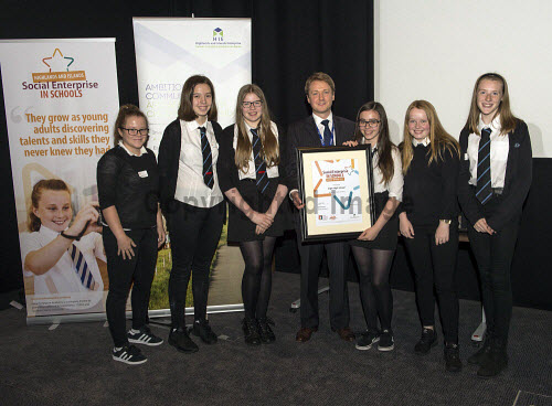 Social Enterprise in Schools Awards 2017 Eden Court Theatre Inverness  Pupils of Elgin High School  get their award from Peter Guthrie from HIE      PIC   Trevor Martin/HIE 2017,schools,school,pupils,pupil,awards,award,social,enterprise
