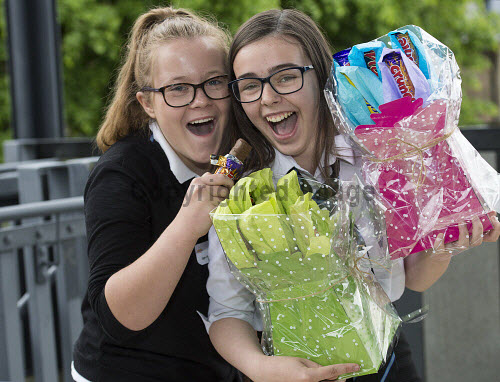 Social Enterprise in Schools Awards 2017 Eden Court Theatre Inverness  Pupils Codi Raffan and Lean Davies  from Elgin High School with their Sweety Bouquets    PIC   Trevor Martin/HIE 2017,schools,school,pupils,pupil,awards,award,social,enterprise