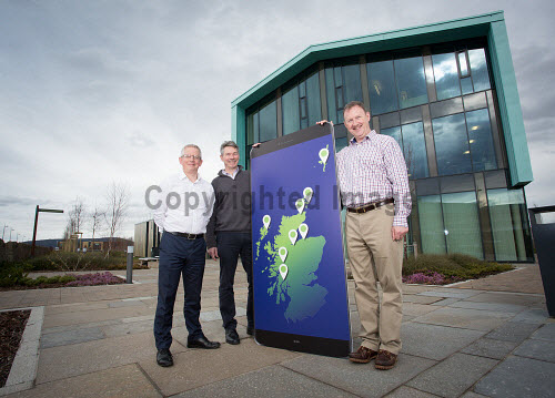 Selling Online  LTR at back Ewan Ramsay , David Gass and Stephen Whitelaw Picture Credit Alison White/HIE 2018,inverness,campus,#BeBusinessBrave