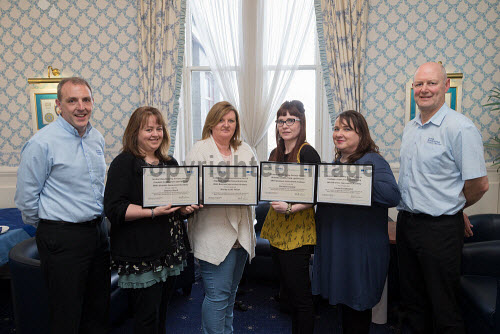 Participants in the SMAS Business Improvement Academy receiving their certificates, Kveldrso Hotel, Shetland
