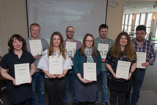 Delegates receiving their certificates on completing the Emerging Leaders Leadership course, Sullom Voe, Shetland