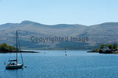 Boats and yachts on Lochaline, Morvern