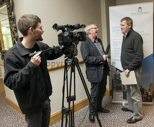 HIE CAM Event  Drummossie Hotel Inverness  26th April 2017  Ian Philp, HIE account manager, being interviewed   PIC. TREVOR MARTIN/HIE Community,Communities,Community led development,account management,CAM,LDO,Conference,event