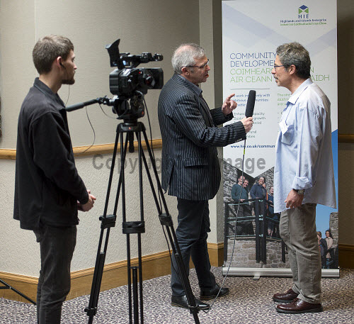 HIE CAM Event  Drummossie Hotel Inverness  26th April 2017  Fabio Villani, Director for Forres Area Community Trust, being interviewed.   PIC. TREVOR MARTIN/HIE Community,Communities,Community led development,account management,CAM,LDO,Conference,event