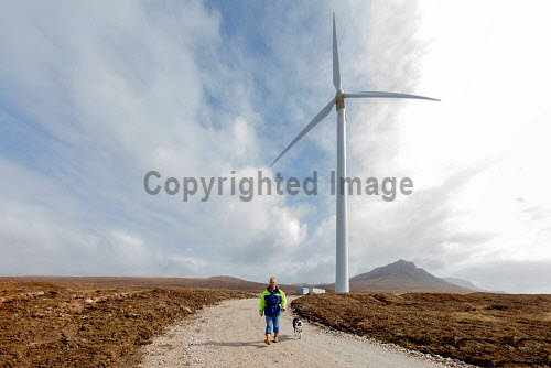 A new wind turbine is now in operation at Achiltibuie.