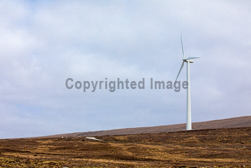 A new wind turbine is now in operation at Achiltibuie.  Pictured: the newly installed turbine  Picture Credit Malcolm McCurrah/HIE wind turbine,renewable energy,green,power,Achiltibuie,Ullapool,5,April,2017