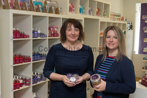 Cope Shetland   Ingrid Webb CEO of Cope and Katrina Wiseman HIE,    Picture Credit Ben Mullay /HIE COPE,2017,Shetland,soap,staff,workers