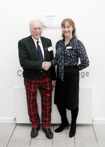 Dunoon - 24.2.17 - Fairmile Opening  The official opening of Fairmile Building, Dunoon.   Pictured - Jennifer Nicoll, HIE area manager and David Boyd of the Sceptre Preservation Society.  Stuart Nimmo Photography/ HIE 2017,Fairmile,dunoon,business,offices