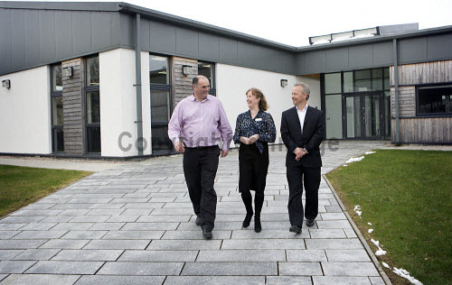 Dunoon - 24.2.17 - Fairmile Opening  The official opening of Fairmile Building, Dunoon.   Pictured - (L to R) Ken Coley of Samteq, Jennifer Nicoll, HIE area manager and Brendan Wallace of BC Technologies.  Stuart Nimmo Photography/ HIE 2017,Fairmile,dunoon,business,offices
