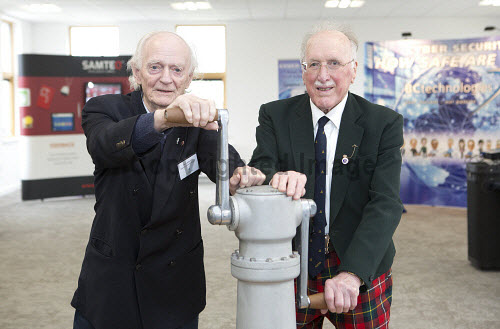 Dunoon - 24.2.17 - Fairmile Opening  The official opening of Fairmile Building, Dunoon.   Pictured - Denis Jackson and David Boyd of the Sceptre Preservation Society. ager and Brendan Wallace of BC Technologies.  Stuart Nimmo Photography/ HIE 2017,Fairmile,dunoon,business,offices