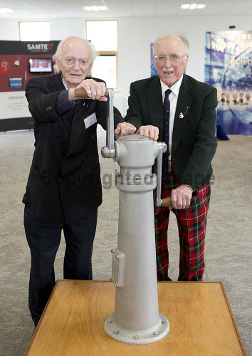 Dunoon - 24.2.17 - Fairmile Opening  The official opening of Fairmile Building, Dunoon.   Pictured - Denis Jackson and David Boyd of the Sceptre Preservation Society.  Stuart Nimmo Photography/ HIE 2017,Fairmile,dunoon,business,offices