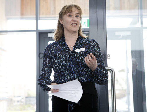 Dunoon - 24.2.17 - Fairmile Opening  The official opening of Fairmile Building, Dunoon.   Pictured - Jennifer Nicoll, HIE area manager speaking at the event  Stuart Nimmo Photography/ HIE 2017,Fairmile,dunoon,business,offices
