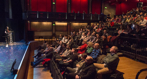 HIE Digital Extra 17 digital conference General View Jsession in One Touch Theatre PIC   Trevor Martin/HIE 2017,Eden Court,Inverness,#HelloDigital,#DiscoverDigital,device,devices,tablet,tablets,audience,crowd,speaker