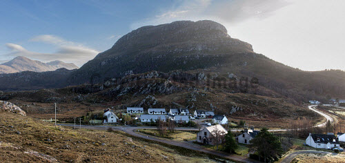 Shieldaig Township 15/11/2016  Former common grazings, partnership project between HSCHT, grazings committee, community council and Albyn Housing Society.  Mixed tenure of private ownership, shared equity, social rent and self build. Total of 15 units  Long shot � new development above the road  Picture Credit Cailean Maclean/HIE 2016,community,shoot,shieldaig,crofting,housing