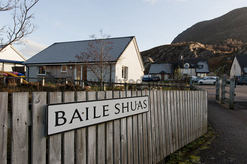 Shieldaig Township 15/11/2016  Former common grazings, partnership project between HSCHT, grazings committee, community council and Albyn Housing Society.  Mixed tenure of private ownership, shared equity, social rent and self build. Total of 15 units  New development � Baille Shuas � Upper Township  Picture Credit Cailean Maclean/HIE 2016,community,shoot,shieldaig,crofting,housing