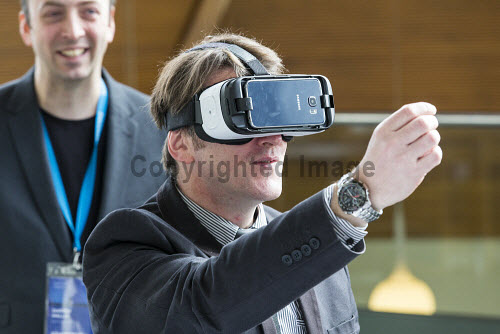 Discover Digital 2016, Inverness  Virtual reality  Picture Credit John Paul / HIE DiscoverDigital 2016,Conference,conferences,conventions,convention,meeting,meetings,2016,exhibition,exhibitions,expo,delegate,delegates,digital,virtual reality,VR,augmented reality,AR,tech,#DiscoverDigital,#HelloDigital