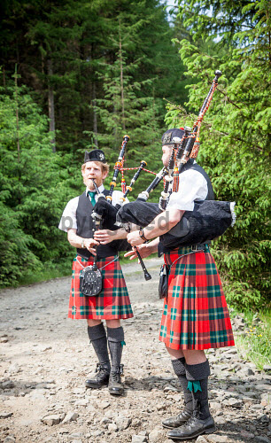 Tiroran Community Forest Opening, Isle of Mull 4/6/2016  Pipers at the event  Picture Credit Sam Jones/HIE Tiroran Community Forest Opening,2016,South West Mull and Iona Development,community,forest