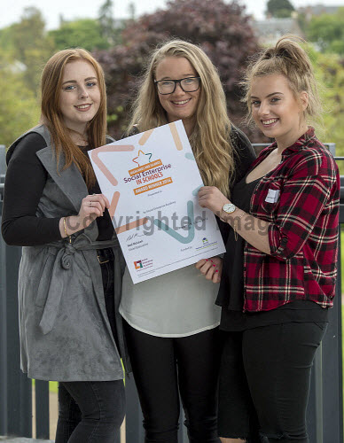 HI Social Enterprise. Schools Market Place and Awards Ceremony at Eden Court, Inverness. 3/6/2016  Invergordon Academy with their award  Picture Credit : Trevor Martin /HIE 2016,inverness,schools,school,HI Social Enterprise,kids,kid,children,child