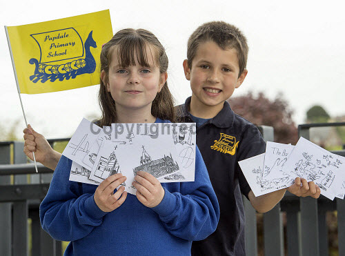 HI Social Enterprise. Schools Market Place and Awards Ceremony at Eden Court, Inverness. 3/6/2016  Papdale Primary school with their award  Picture Credit : Trevor Martin /HIE 2016,inverness,schools,school,HI Social Enterprise,kids,kid,children,child,orkney