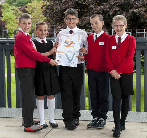 HI Social Enterprise. Schools Market Place and Awards Ceremony at Eden Court, Inverness. 3/6/2016  Sgoil An Rubha school with their award  Picture Credit : Trevor Martin /HIE 2016,inverness,schools,school,HI Social Enterprise,kids,kid,children,child,lewis