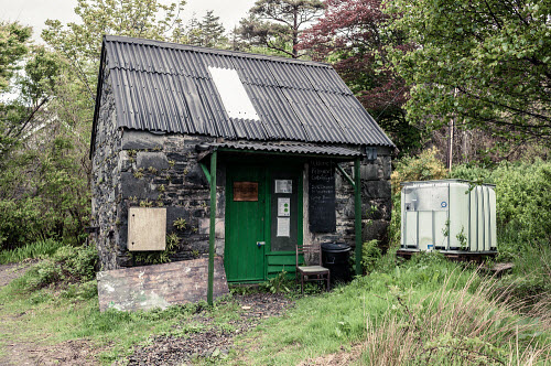 Knoydart 2016  Knoydart Carbon Cycle sign and hut  Picture Credit Kenny Ferguson /HIE 2016,knoydart,inverie,remote