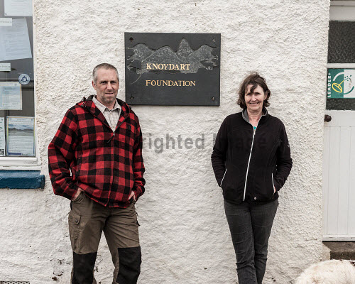 Knoydart 2016  Jim Brown and Development Manager Angela Williams  Picture Credit Kenny Ferguson /HIE 2016,knoydart,inverie,remote