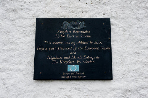 Knoydart 2016 The sign for Knoydart Renewables Hydro Electric Scheme, Inverie  Picture Credit Kenny Ferguson /HIE 2016,knoydart,inverie,remote