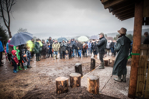 Volunteers from the Maryculter Woodland Trust at the opening of the site on Saturday 26/3/2016  Picture Credit Paul Mackie / HIE 2016,maryculter,woods,forest,forests,aberdeenshire community,communities,woodland