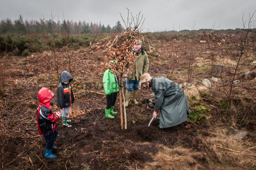 Volunteers from the Maryculter Woodland Trust at the opening of the site on Saturday 26/3/2016  In the picture  planting trees  Picture Credit Paul Mackie / HIE 2016,maryculter,woods,forest,forests,aberdeenshire community,communities,woodland